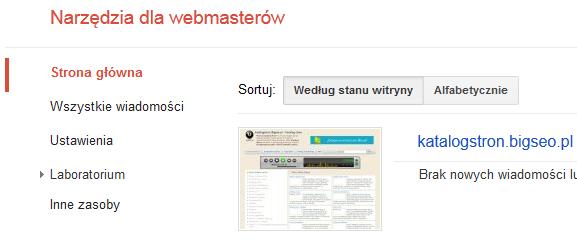 Narzędzia dla webmasterów