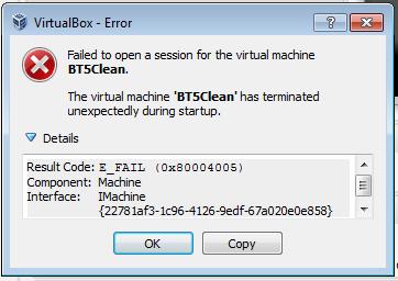 Oracle VirtualBox - rozwiązanie problemu